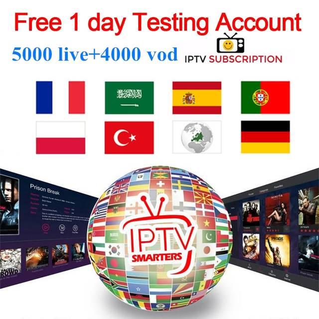 IPTV Subscription for France Arabic Spain Portugal German Nordic Support  Adult M 3u HD Android IPTV smart M3U X96mini TV Box