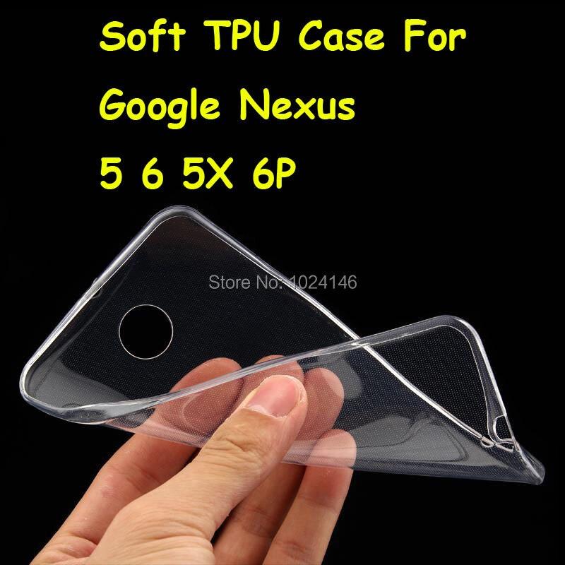Новый тонкий кристалл прозрачный мягкой ТПУ задняя крышка защиты кожи для Google Nexus 5 D820 5x6 XT1100 XT1103 6 P