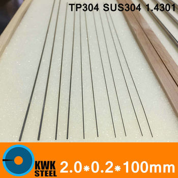2.0*0.2*100mm OD*WT*L Stainless Steel Tube Round Capillary Pipe of TP304 SUS304 DIN 1.4301 Small Diameter DIY Industry