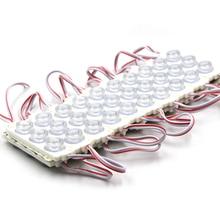 20 pcs led 모듈 led 저장소 전면 창 led 모듈 빛 기호 막대 smd 3030 3led 주입 흰색 ip68 방수 스트립 빛 12 v
