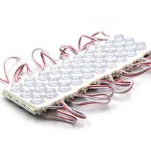 Módulo Led 20 piezas para tienda, módulo LED para ventana frontal, barra de letrero luminoso SMD 3030, 3 led de inyección, luz de tira impermeable blanca ip68 de 12V