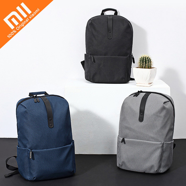 6554ca066ddf Original Xiaomi 20L Polyester Youth College Leisure Backpack 15.6 inch Water-resistant  Laptop Bag Strong 20kg Load-carrying