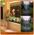 Real Photos Party Dress Mini Elegant Sweetheart Sheath Black Crystal Cap Sleeves Cocktail Dresses 2016 Beads