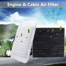2 шт. воздушный фильтр двигателя и воздушный фильтр салона для Toyota Corolla Yaris Matrix 2008- 17801-21050 87139-YZZ0 87139-50100