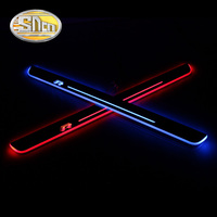 4PCS Car LED Door Sill For Volkswagen Golf 7 MK7 2014 2018 Ultra thin Acrylic Dynamic LED Welcome Light Scuff Plate Pedal