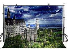 7x5ft German Castle Backdrop Famous Neuschwanstein Photography Background and Studio Props