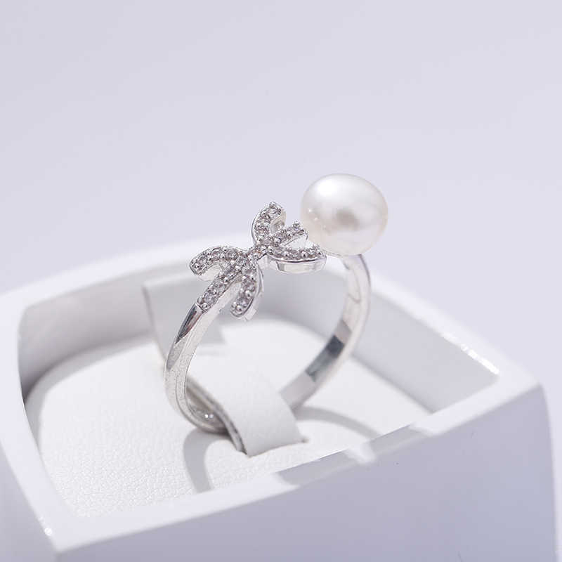 2019 Sale Pisces Ring Design Ring 7-8mm Freshwater Pearl Ring 925 Silver Constellation Ring