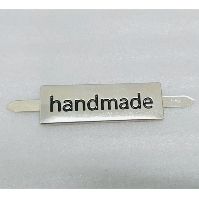 retail metal labels 1 2cmx3 7cm handmade Zinc Alloy tags with electroplating for bags shoes hats