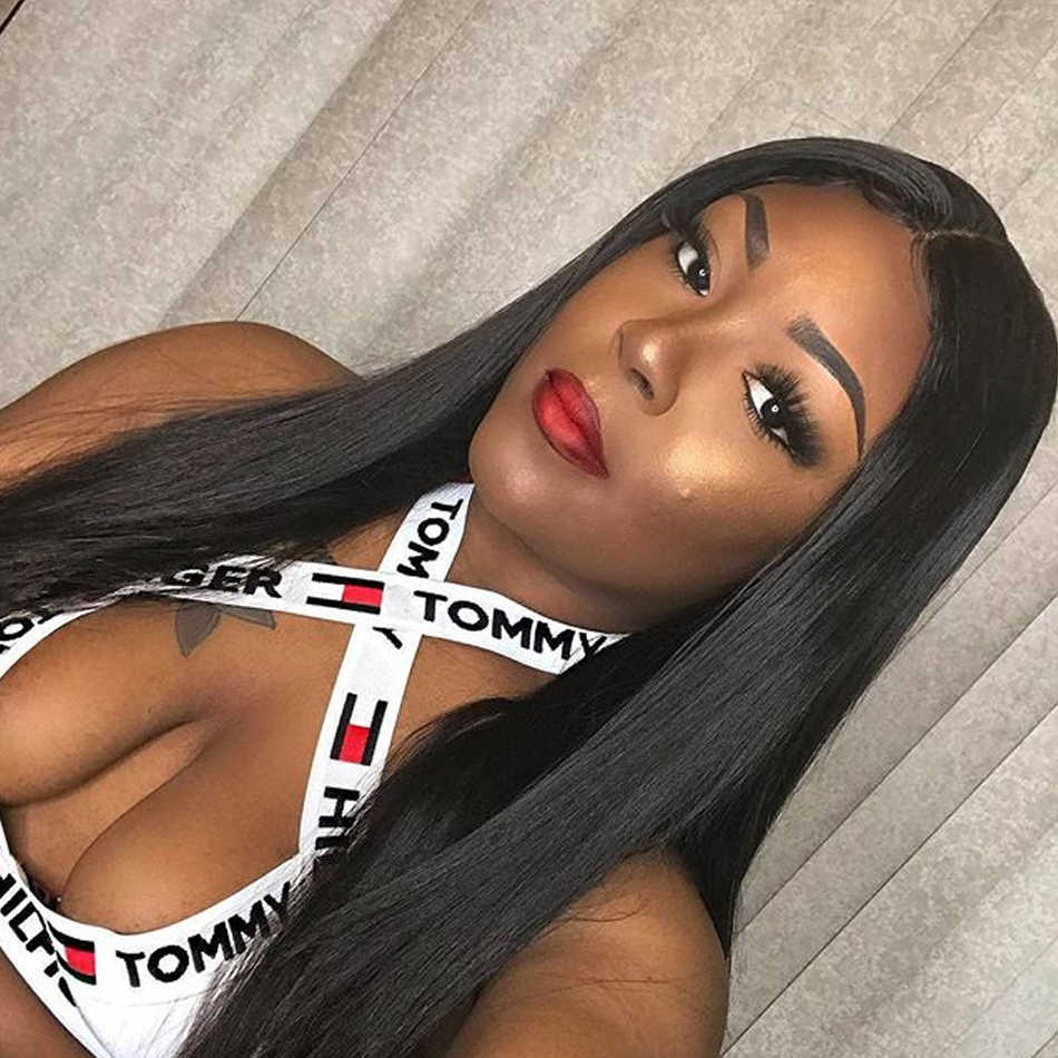 Poker Face Straight Hair Weaves Brazilian Straight 1 3 4 BundleS Hair Natural Color Human Hair Extensions 8-30 inchs Remy Hair