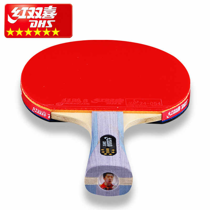 DHS Double Happiness MA LONG DING NING  6 star professional table tennis racket double reverse Ping Pong Racket fast loop