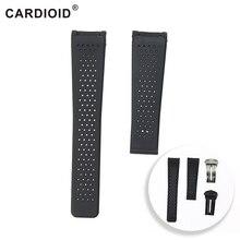 Мода мм 22 мм силиконовый ремешок для TAG HEUER CARRERA серии для мужчин дышащая повязка мягкий ремешок для TAG HEUER запястье браслет