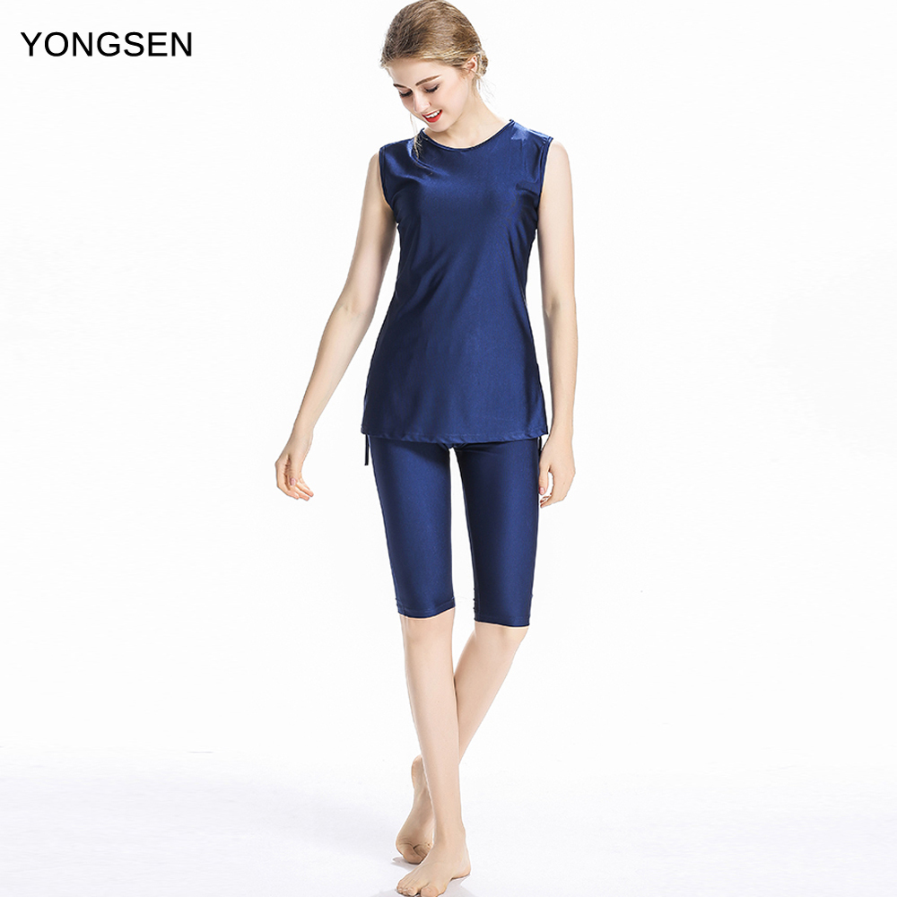 YONGSEN News Plus Size Burkinis Modest Clothing Islamic Muslim Swimsuit  Swimming Suit Islamic Swim Wear Beach Islamic Swimwear