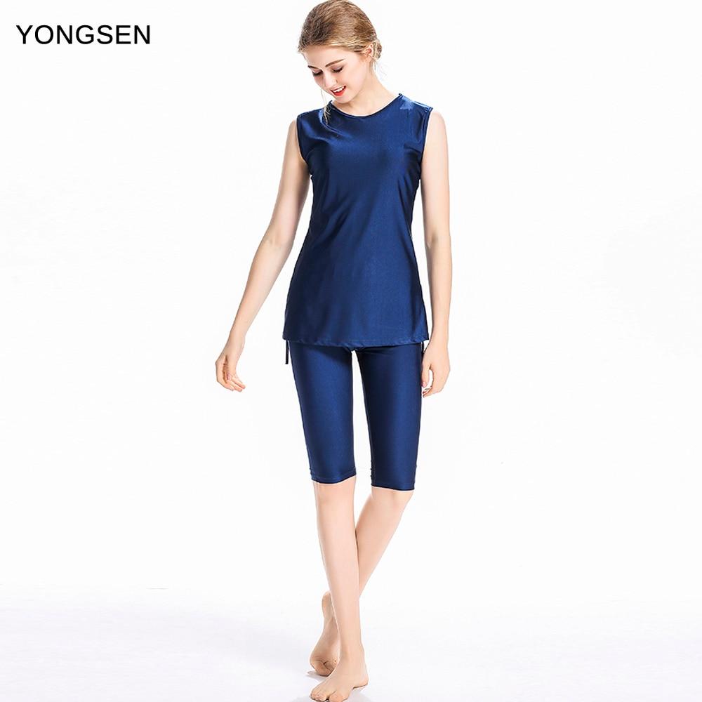 US $17.59 20% OFF|YONGSEN News Plus Size Burkinis Modest Clothing Islamic  Muslim Swimsuit Swimming Suit Islamic Swim Wear Beach Islamic Swimwear-in  ...