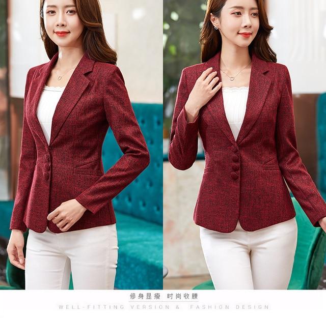 New Women's Blazer Elegant fashion Lady Blazers Coat Suits 5