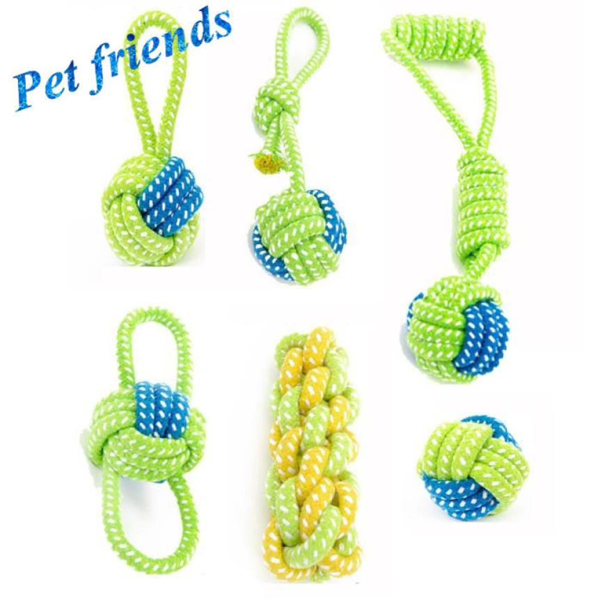 Hot Fashion Drop Shipping Dog Toy Dog Chews Cotton Rope Knot Ball Grinding Teeth Odontoprisis Pet Toys Large Small
