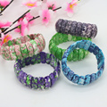 Riverstones snow jade stone 22x8mm bracelet five colors to choose from,DIY suitable for women jewelry design wholesale and retai