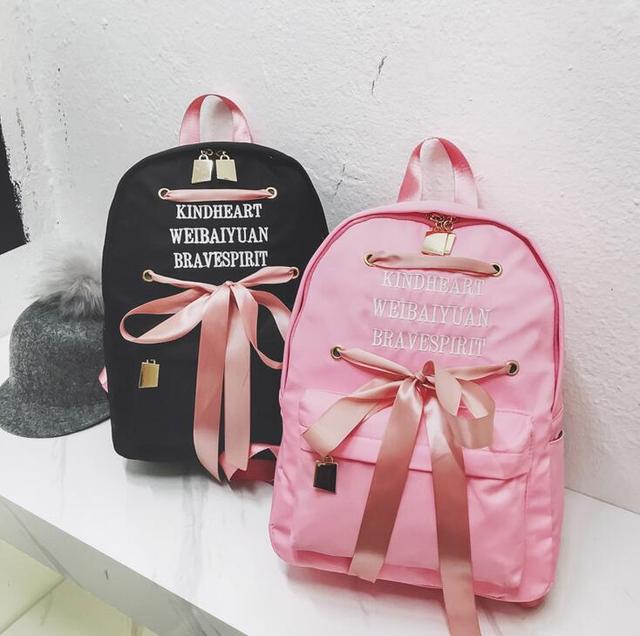 Fashion Women Backpack Big Embroidered cute Backpack Women nylon Backpacks  High Quality Girls School Bags f78a556bd7