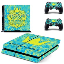 Kingdom Hearts 3 PS4 Skin Sticker Decal For PlayStation 4 Console and 2 Controllers PS4 Skins Sticker Decal