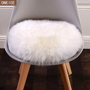 Image 1 - 30*30 centimetri morbido artificiale tappeto di pelle di pecora cuscino della copertura camera da letto artificiale coperta caldo tappeto capelli lunghi sedile pelliccia pavimento mat