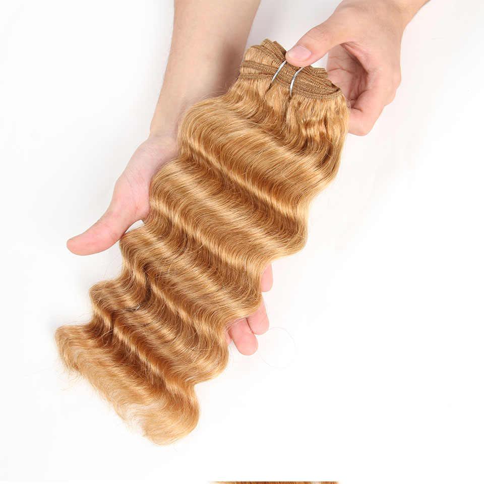 Sleek brazylijski głęboka fala ludzkich włosów splot zestawy Deal natura włosy mocno falowane w stylu brazylijskim 1 sztuka tylko 27 99J burgundii Remy przedłużanie włosów