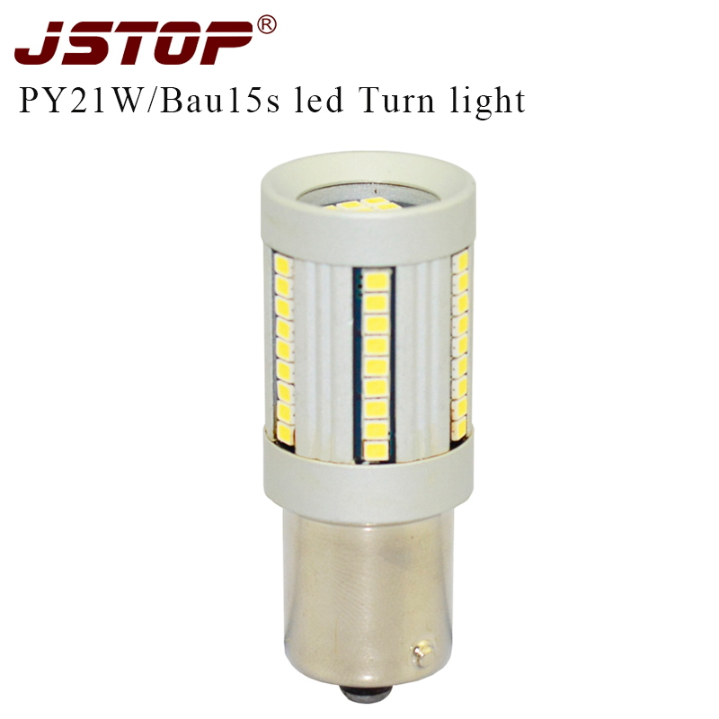 JSTOP led car turn light high quality P21W exterior lamp PY21W auto Front turn signal Canbus No error No flicker 12V Turn bulbs 2pcs 12v 31mm 36mm 39mm 41mm canbus led auto festoon light error free interior doom lamp car styling for volvo bmw audi benz