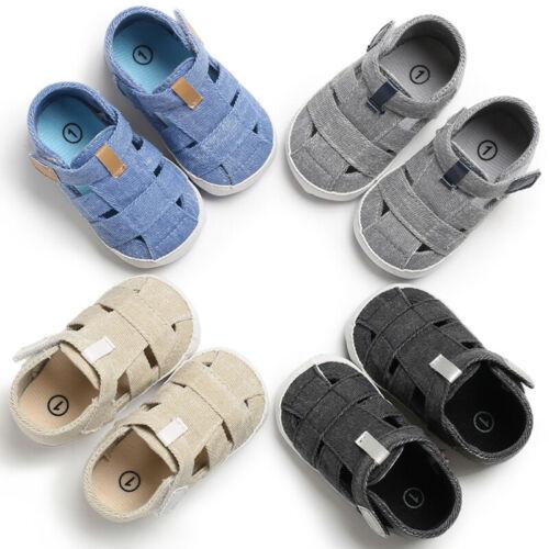 Summer Baby Boys Girls Sandals Shoes Newborn Soft Crib Sole Leather Shoes Unisex Kid Toddler Prewalker Sandals Infantil 0-18M