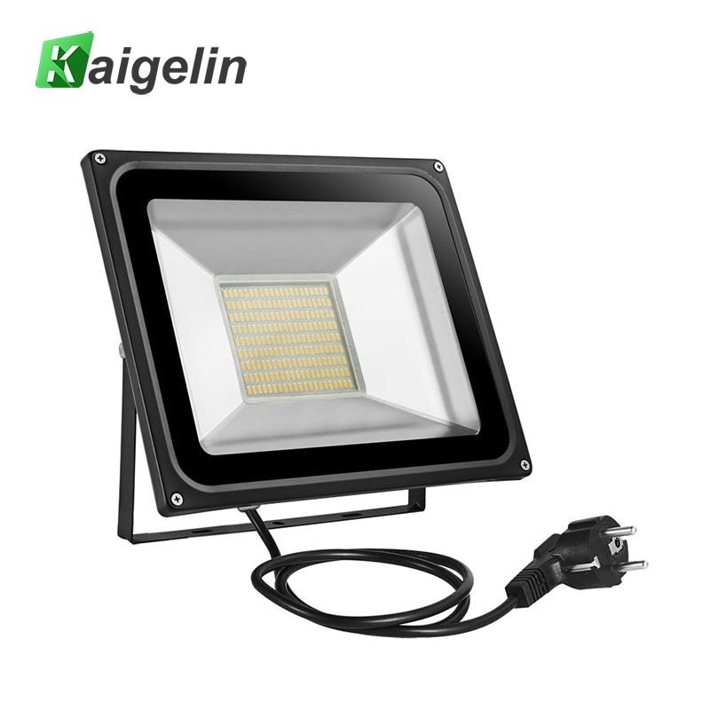 100 Вт Светодиодный прожектор AC 220 В-240 В 11000lm Отражатели прожектор ЕС Plug IP65 189 LED SMD5730 светодиодные лампы Наружное освещение