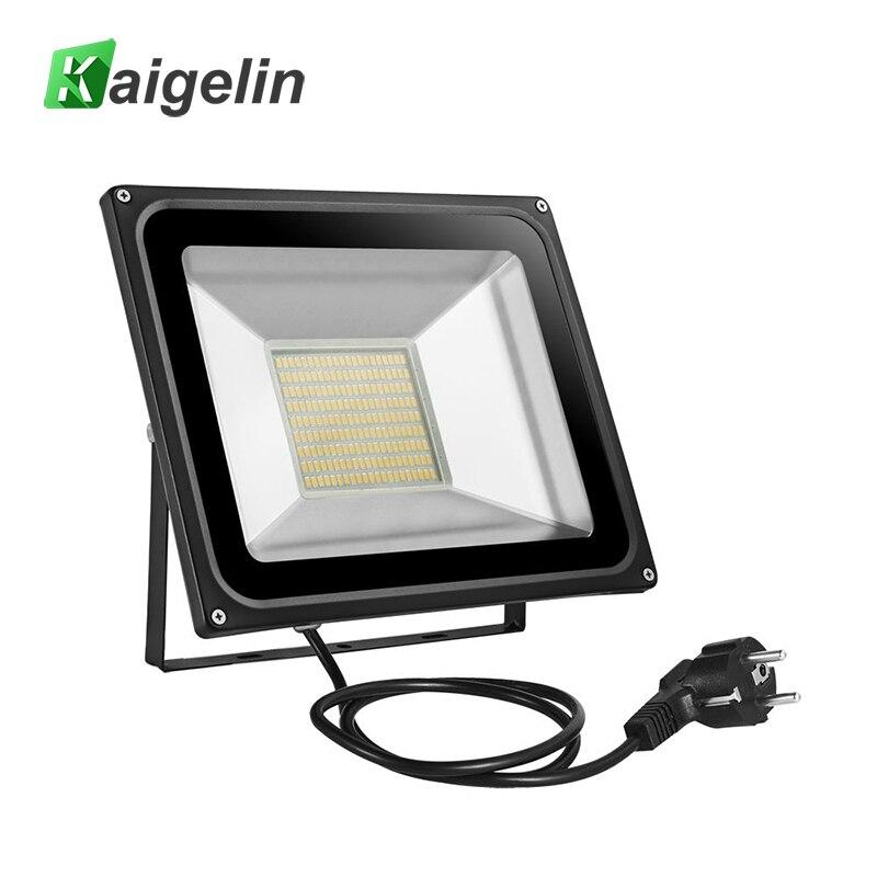 100 W llevó la luz de inundación AC 220 V-240 V 11000lm Reflectores proyector UE plug IP65 189 LED smd5730 lámpara led proyector Iluminación de exterior