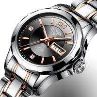 2018 Binger Watch Women Luxury Brand Japan Automatic Mechanical Movement Wrist Sapphire Waterproof Ladies Watch gold B8051 8