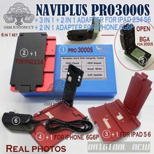 Naviplus Pro3000s NAND Repair Tool  Flash Non-Removal Module Adapterfor iphone 6G,6P For iPad 2 3 4 5 6 iPad Air 1 2 fpc wire for lga52 lga60 socket for iphone ipad nand flash chip testing wholesale excellent quality