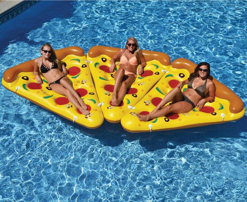 sleeping floats bed rings pizza lounger air in water swimming mattress chair sports hammock float pool inflatable item toy from