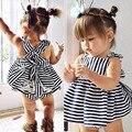 2016 meninas do bebê roupas 9-24 meses romper do bebê terno novo roupas de verão crianças tarja