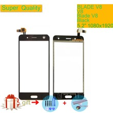 Touch Screen Digitizer For ZTE Blade V8 Touch Panel Touchscreen Lens Front Glass Sensor NO LCD V8 Replacement Black White 5.2