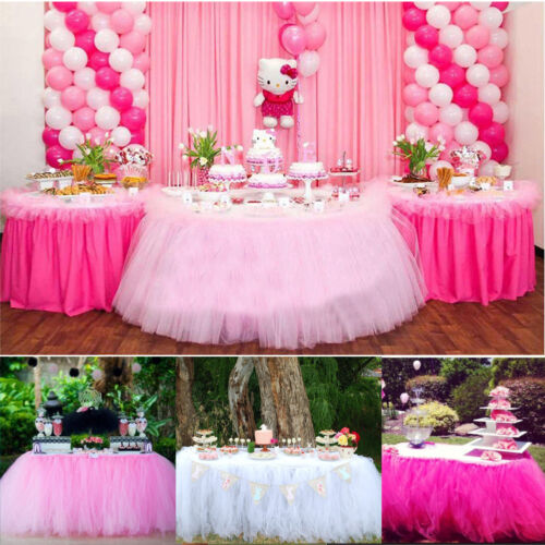 Image 3 - Tulle TUTU Table Skirt Tableware Wedding Party Xmas Baby Shower Birthday Decor-in Table Skirts from Home & Garden