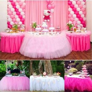 Image 3 - Tulle TUTUกระโปรงตารางบนโต๊ะอาหารงานแต่งงานXmas Baby Shower Decorวันเกิด