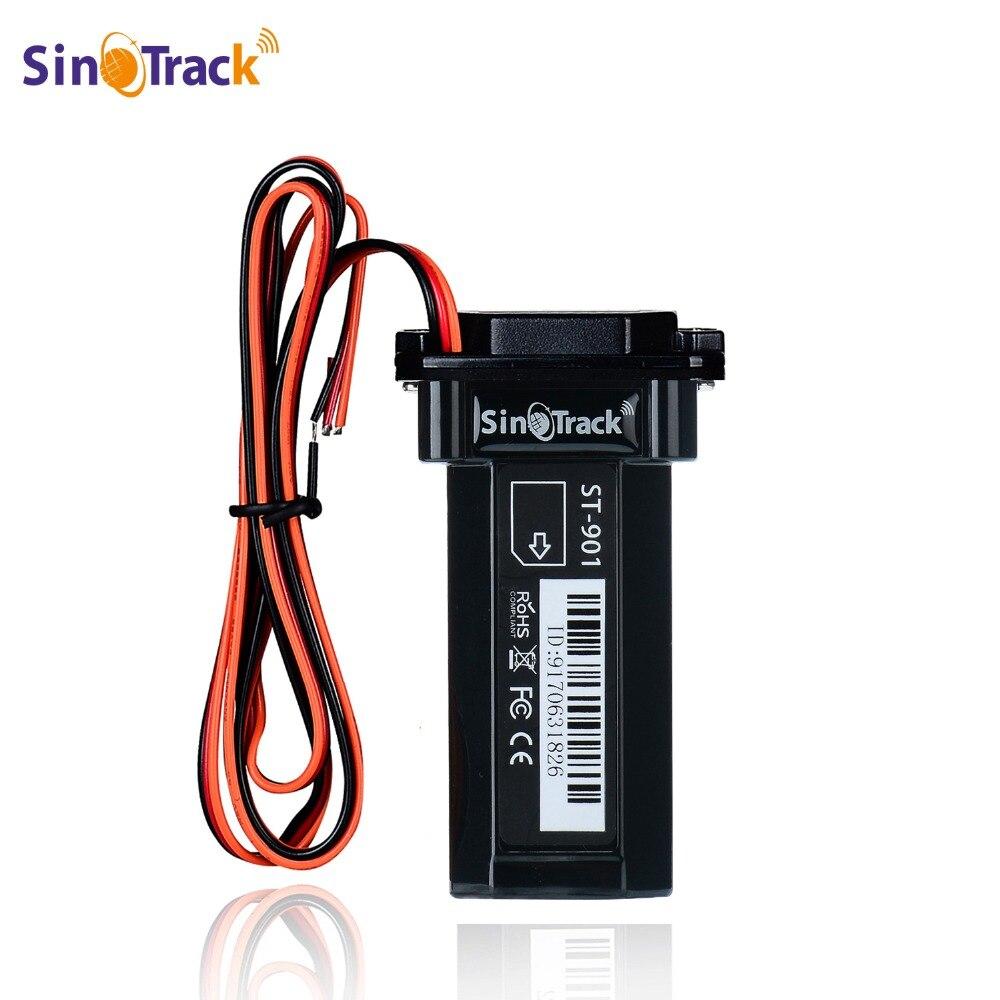 Mini impermeable Builtin batería GSM rastreador GPS ST-901 de la motocicleta del coche de la vehículo Dispositivo de rastreo en línea con software de seguimiento