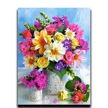 Diamond Flower Vase Painting European Embroidery Rubiks Cube Drill Cross-stitch Oil Spot