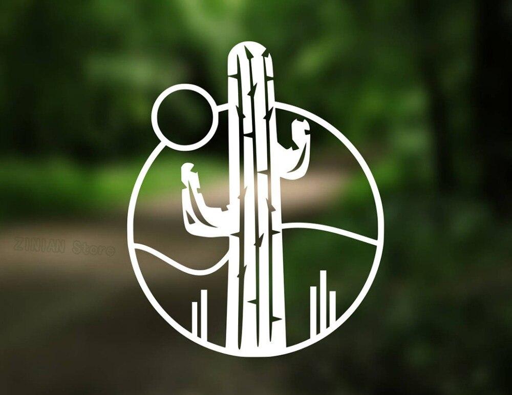 Cactus Vinyl Wall Stickers Succulent Decal Car Flower Shop