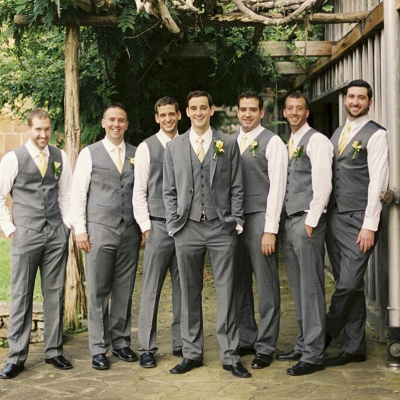 hot-seeling original luxury fashion authentic quality US $79.99 20% OFF|Silver Gray groom mens suits high quality the best man  wedding tuxedos for groomsmen Business suits (Jacket+Pant+Vest) A149-in  Suits ...