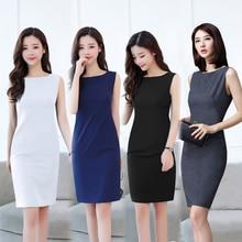 Summer dress new professional womens sleeveless vest ol slim commuter long work
