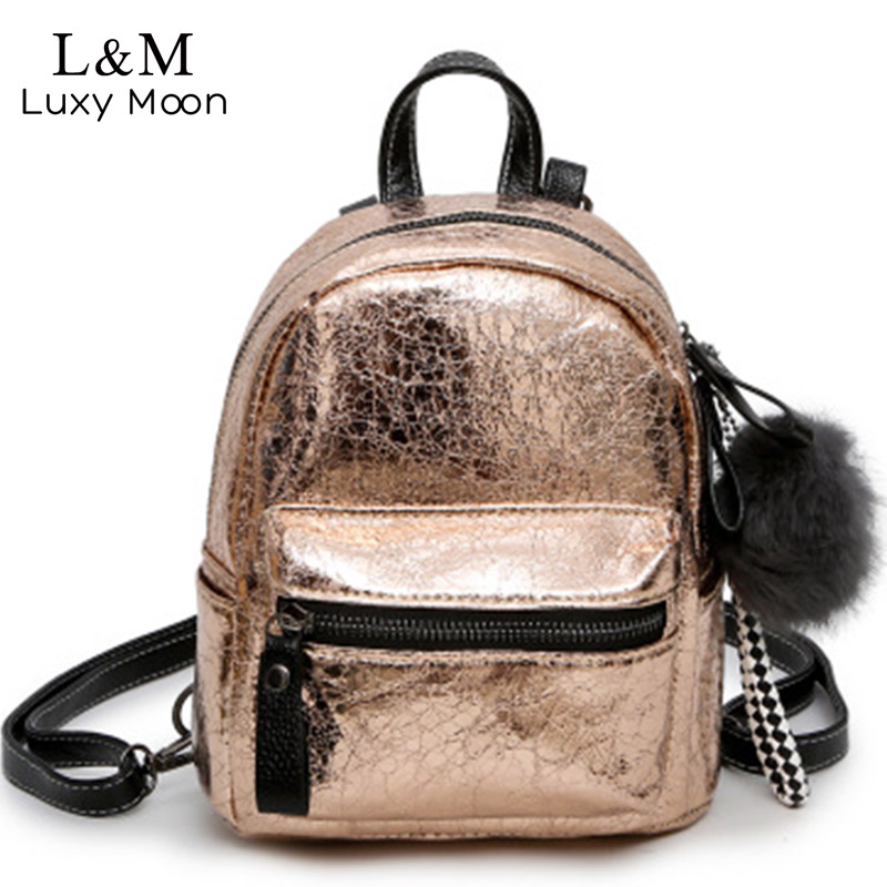 Luxy moon Women Backpack School Bags PU Leather Bag Female Teenage Girls Shoulder Bags Silver Mini Backpacks New Mochila XA1205H luxy moon rivets black backpack women pu leather backpacks white zipper large school bag for teenage girls fashion rucksack xa8h