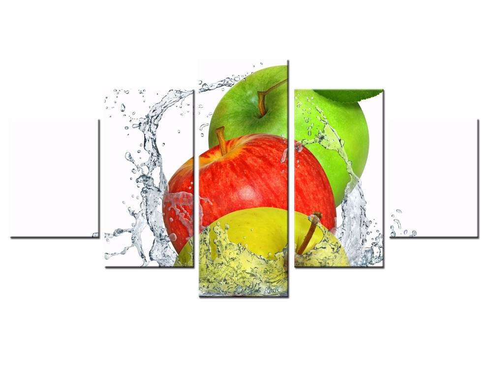 Top 5 Pieces Factory wholesale Fruit series Art Print Poster Wall Picture Canvas Painting Framed Home Decor/still life-4