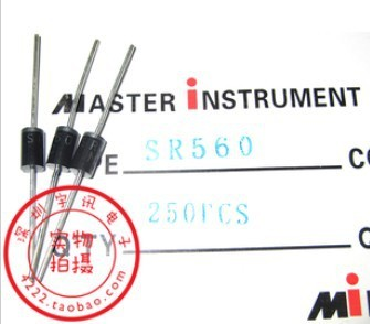 Free shipping 20PCS SR560 SB560 5A 60V Schottky diode rectifier diode
