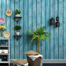 3D Retro nostalgic old wallpaper antique wood bar personality fashion womens clothing store barber shop grain