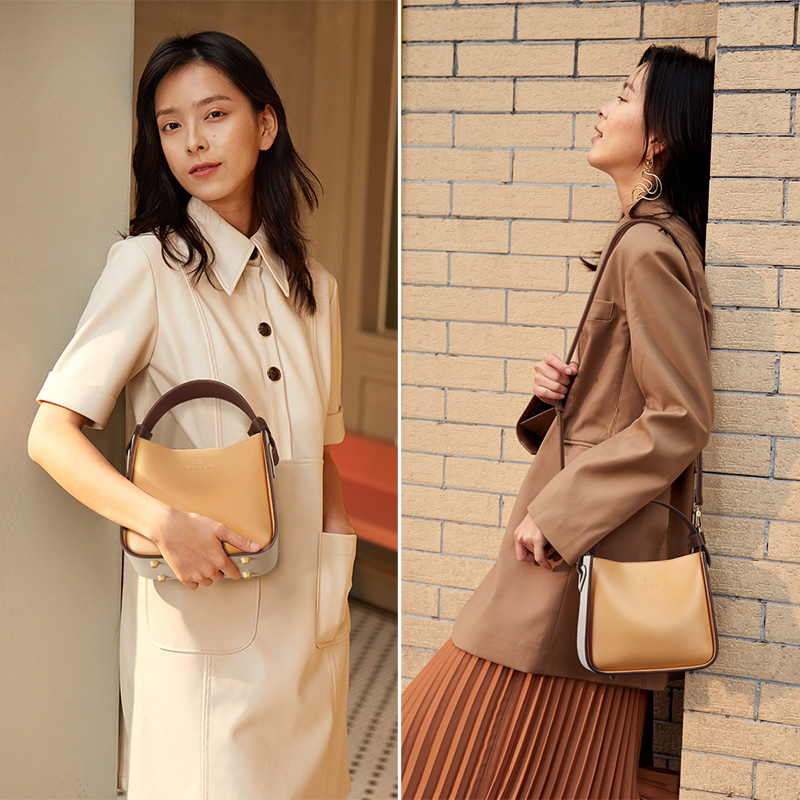 FOXER 2019 NEW Fashion Leather Bucket Bag for Women Stylish High Quality Lady Messenger Bag & Shoulder Bags Valentine's Day Gift 2