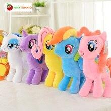 Бесплатная доставка 30 см Высокое качество Дети Purples конек плюшевые куклы Единорог Лошадь Игрушечные лошадки для детей на день рождения Обувь для девочек Рождественский подарок