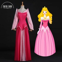 Top Quality Newest Style Sleeping Beauty Princess Aurora Cosplay Costume For Adult women Party Dress Can Be Custom Made