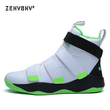 Zenvbnv New Lebron James Professional Basketball Shoes Men Sport Sneakers Mens Breathable Air Zoom Cushion Hook Loop Male