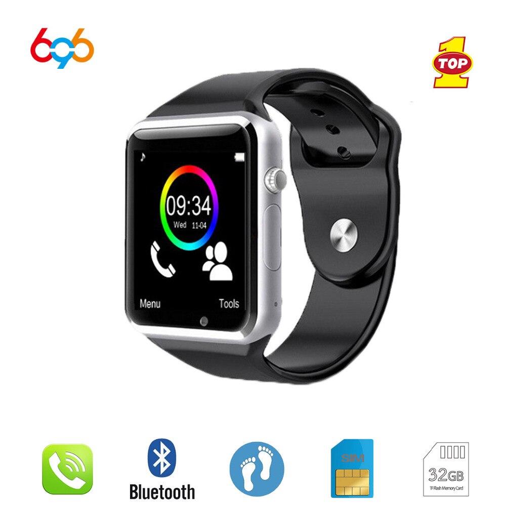 696 Bluetooth A1 SmartWatch Orologio di Sincronizzazione di Notifier Pedometro Supporto SIM Carta di TF Connettività Apple iphone Android Phone Smartwatch