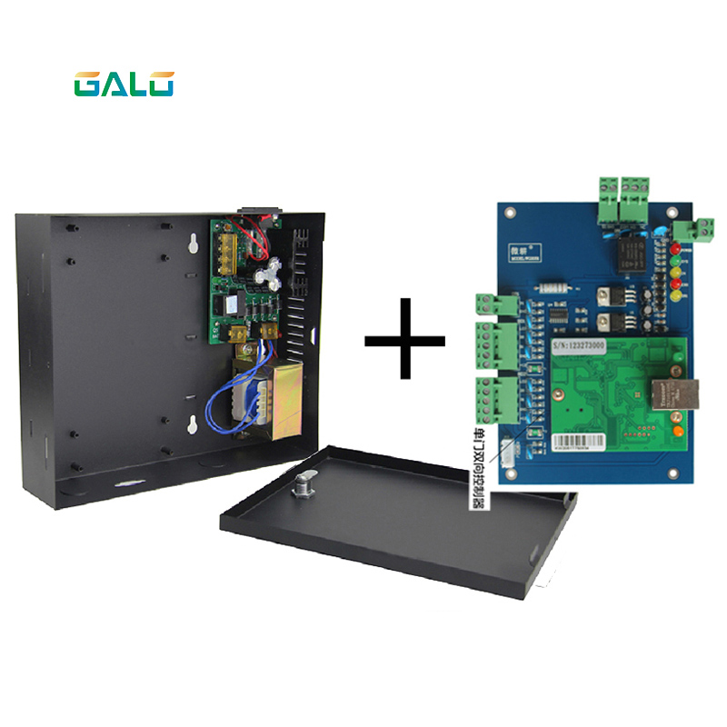 PCB 1 2 4 gate door lock Access Controller board with TCP/IP port with cabinet and power supply boxPCB 1 2 4 gate door lock Access Controller board with TCP/IP port with cabinet and power supply box